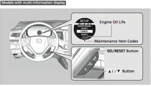How to reset oil life on honda accord 2013